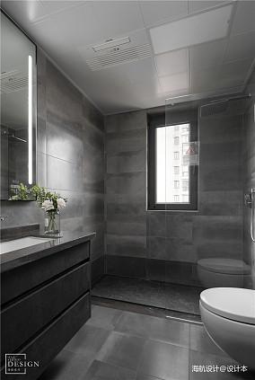 明亮103平现代三居卫生间装修案例