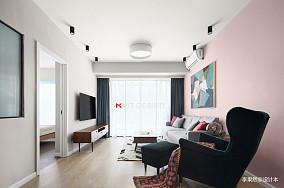 质朴80平北欧二居客厅装修图片