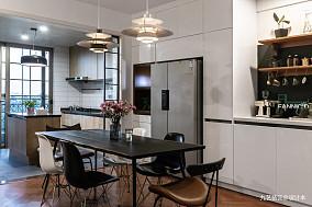 180平米北欧风三居餐厅设计厨房设计图片赏析