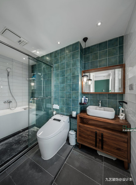 180平米北欧风三居卫浴设计卫生间