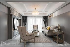 精致95平美式四居客厅实景图