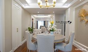 【路足空间设计】立体城浪漫法式轻奢151-200m²三居欧式豪华家装装修案例效果图