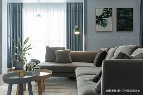 【季意】四居北欧风客厅沙发图四居及以上北欧极简家装装修案例效果图