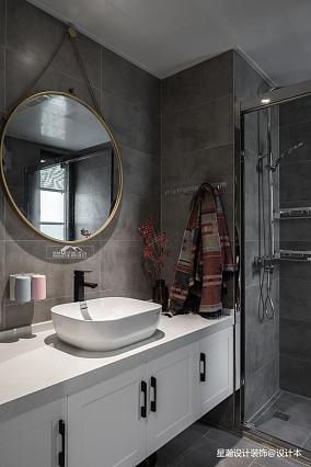 简单现代风复式卫浴设计图