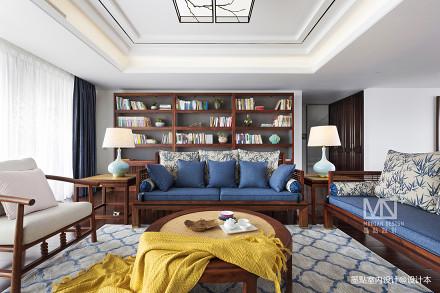 锦绣中式客厅沙发图片三居中式现代家装装修案例效果图