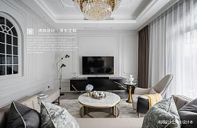 安然美式客厅实景图