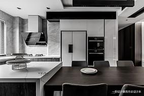 140m²|现代黑白灰厨房实景图