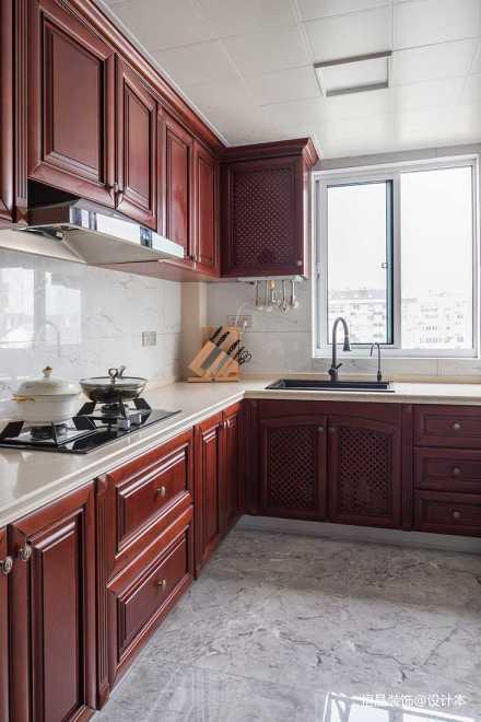 牡丹公寓 90㎡ 小美风格_357045181-100m²二居美式经典家装装修案例效果图