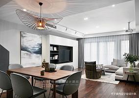 现代风小复式餐厅客厅一体设计