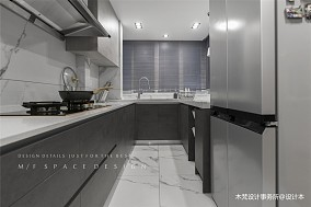 清新素雅北欧风厨房实景图