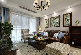 简单美式风客厅沙发图片