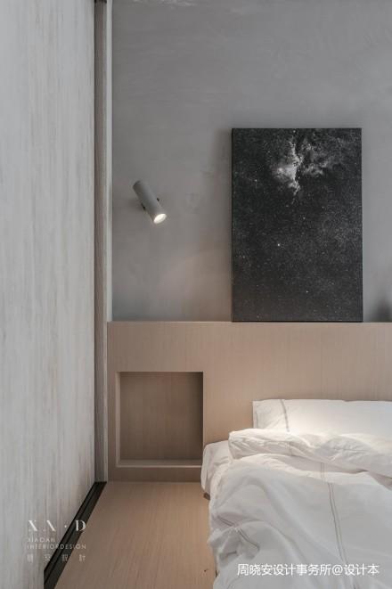 舒适混搭风卧室壁灯设计图片