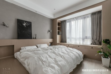 舒适混搭风卧室飘窗设计