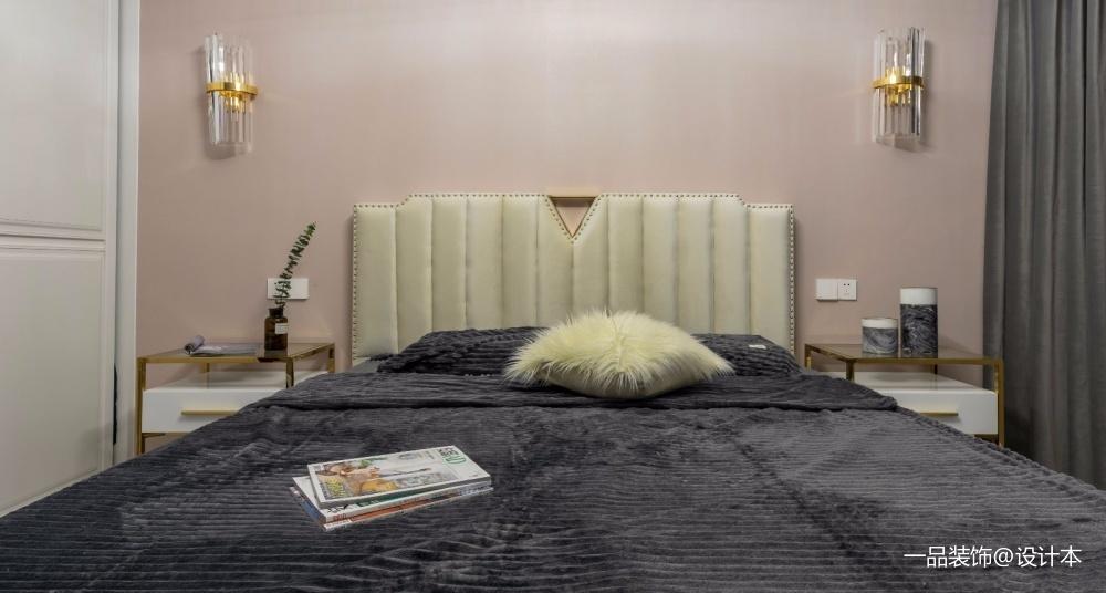 年轻化混搭风卧室壁灯图卧室窗帘潮流混搭卧室设计图片赏析