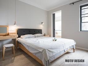 时尚北欧风主卧室设计图卧室北欧极简卧室设计图片赏析