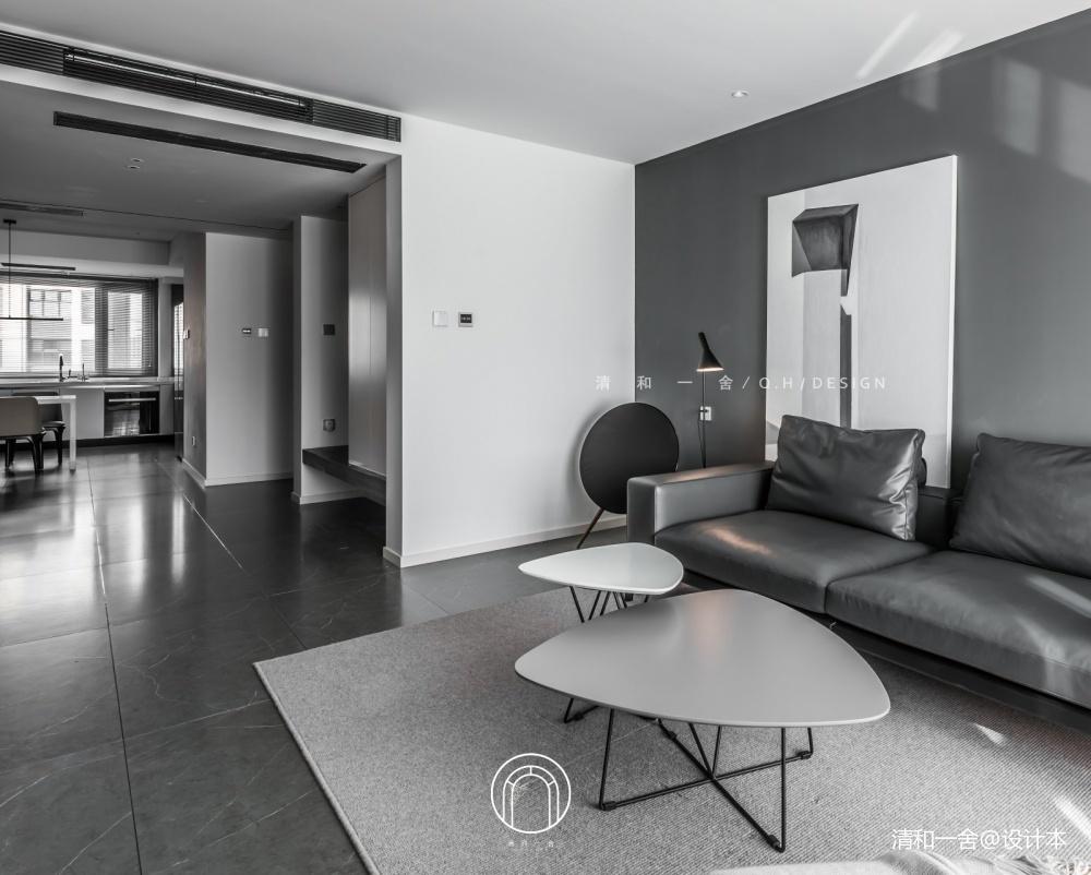 139㎡二居极简现代客厅沙发图客厅现代简约客厅设计图片赏析