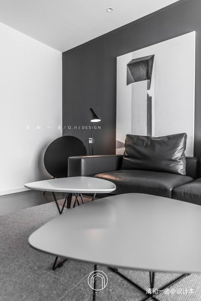 139㎡二居极简现代客厅设计客厅现代简约客厅设计图片赏析