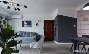 《清风微蓝》北欧风客厅设计三居北欧极简家装装修案例效果图