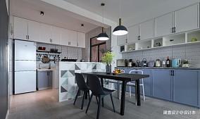 《清风微蓝》北欧风餐厅设计图三居北欧极简家装装修案例效果图