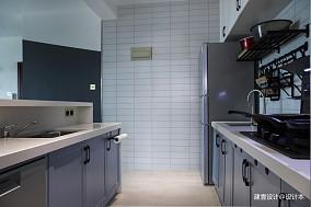 《清风微蓝》北欧风厨房设计图三居北欧极简家装装修案例效果图
