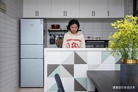 《清风微蓝》北欧风厨房设计三居北欧极简家装装修案例效果图