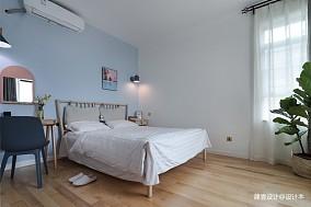 《清风微蓝》北欧风卧室设计图三居北欧极简家装装修案例效果图