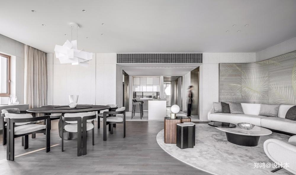 515㎡平层现代风餐厅设计图四居及以上现代简约家装装修案例效果图