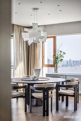 515㎡平层现代风餐厅吊灯图片四居及以上现代简约家装装修案例效果图