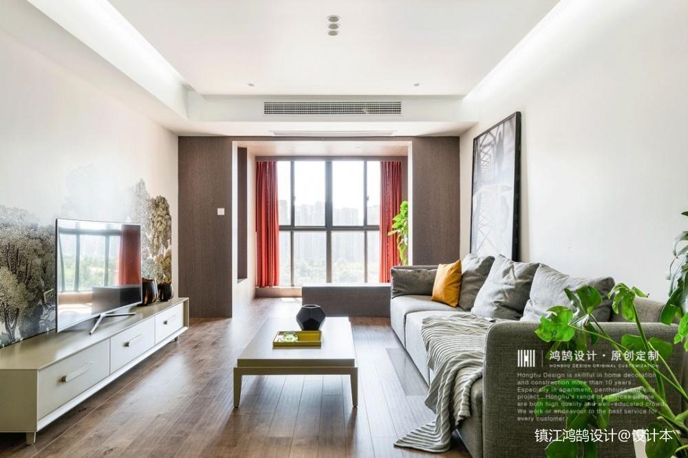 简单自然现代风客厅设计图客厅窗帘现代简约客厅设计图片赏析