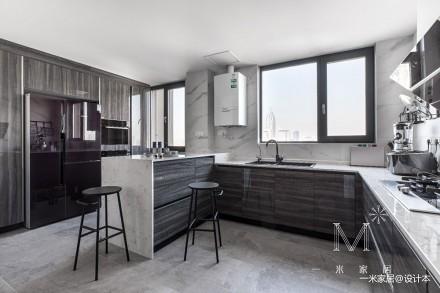 140㎡优雅中式厨房设计图