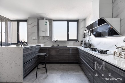 140㎡优雅中式厨房实景图