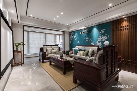 140㎡优雅中式客厅实景图