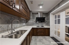 简单美式厨房实景图片