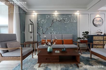 中式现代客厅沙发图片