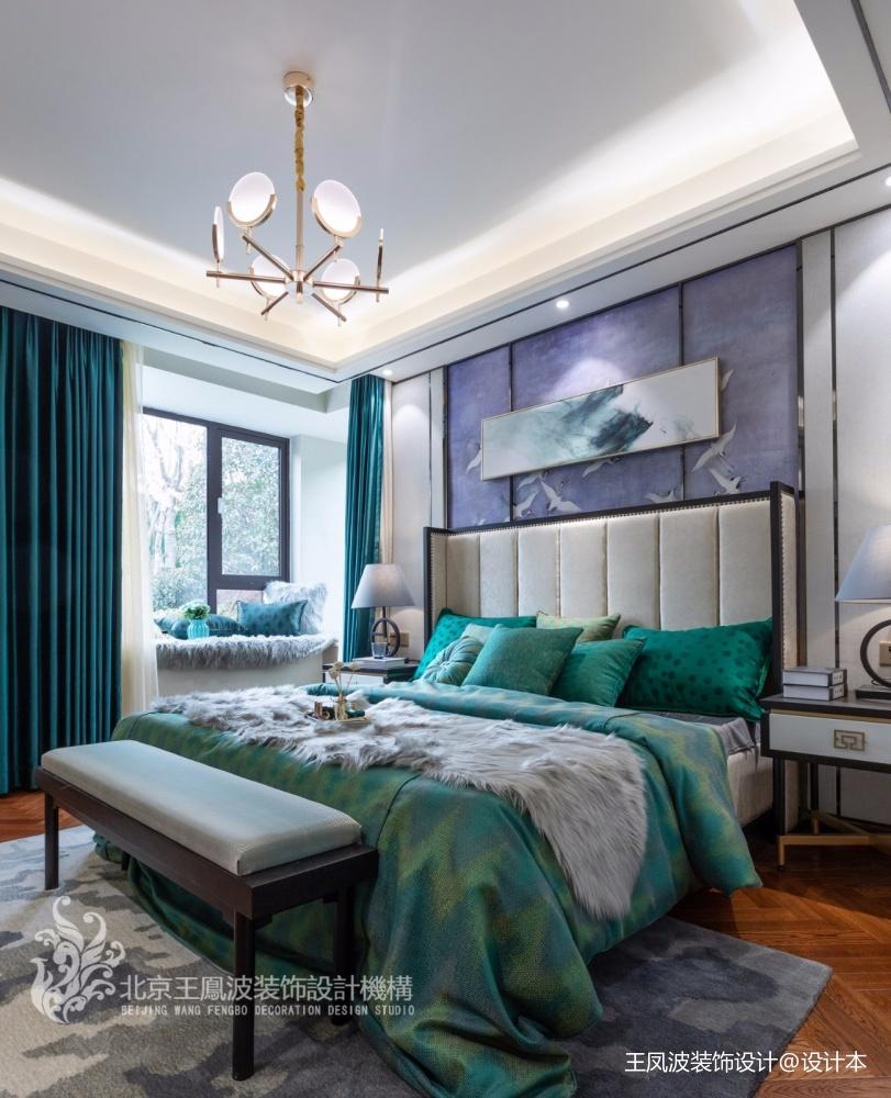 样板间设计简约新中式混搭卧室潮流混搭卧室设计图片赏析