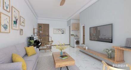 首创光和城_358965860m²以下一居现代简约家装装修案例效果图