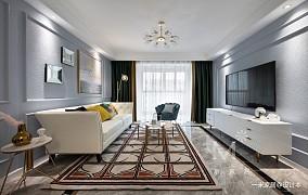 清新简美式客厅设计图片
