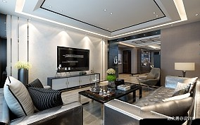 松花江边盛和世纪81-100m²二居现代简约家装装修案例效果图