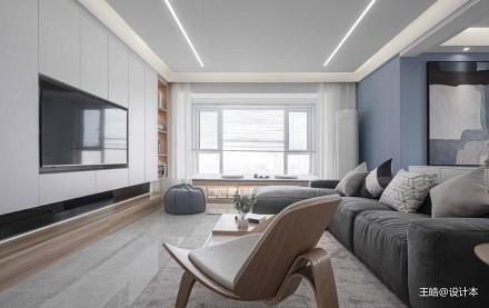 现代风样板房客厅实景图样板间现代简约家装装修案例效果图