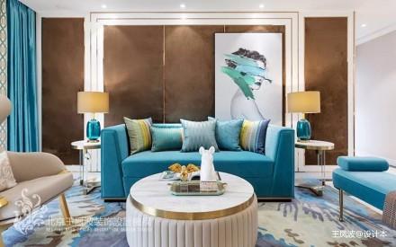 现代简约风客厅沙发实景图片