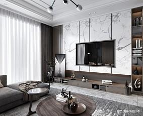 正祥香槟110平米平层设计三居现代简约家装装修案例效果图