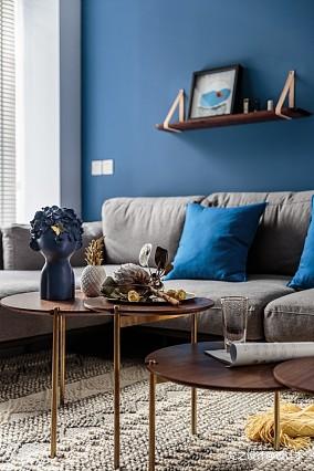 寝出于蓝二居潮流混搭家装装修案例效果图