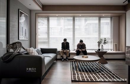 现代两居室客厅茶几图片二居现代简约家装装修案例效果图