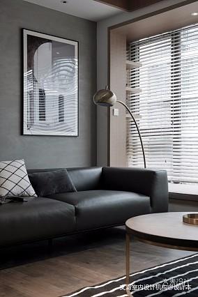 现代两居室客厅落地灯图片