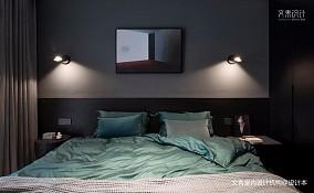现代两居室卧室背景墙设计
