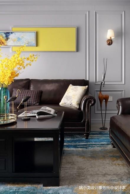 低奢新美式客厅实景图