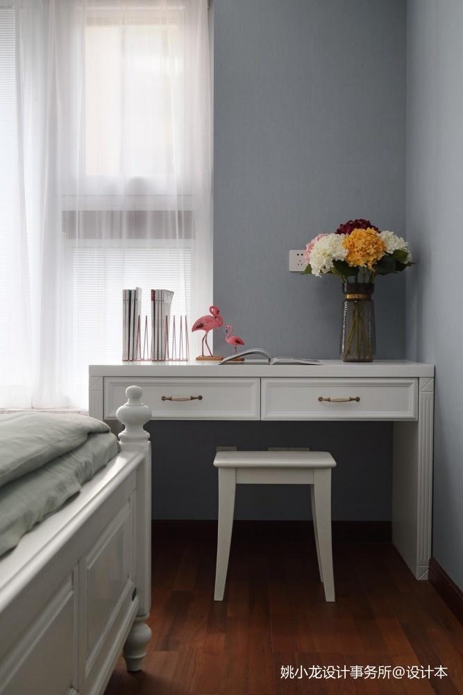 低奢新美式儿童房书桌设计卧室美式经典卧室设计图片赏析