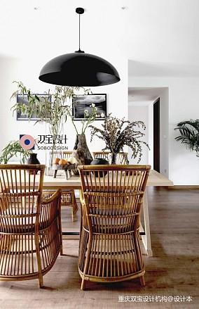自然混搭风餐厅设计图片三居潮流混搭家装装修案例效果图