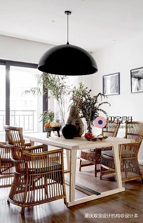 自然混搭风餐厅吊灯图片三居潮流混搭家装装修案例效果图