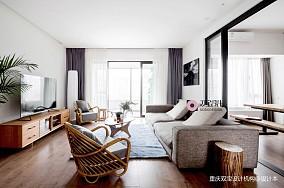 自然混搭风客厅沙发实景图三居潮流混搭家装装修案例效果图